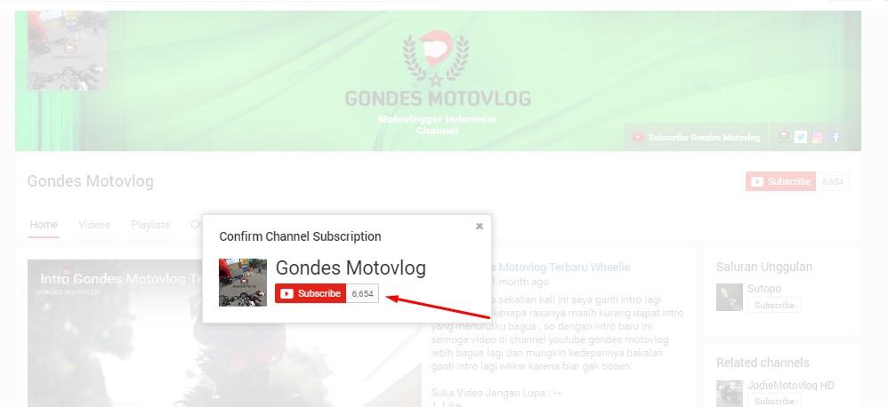 Bagaimana Cara Melihat Subscriber/Pelanggan Kita Di Youtube