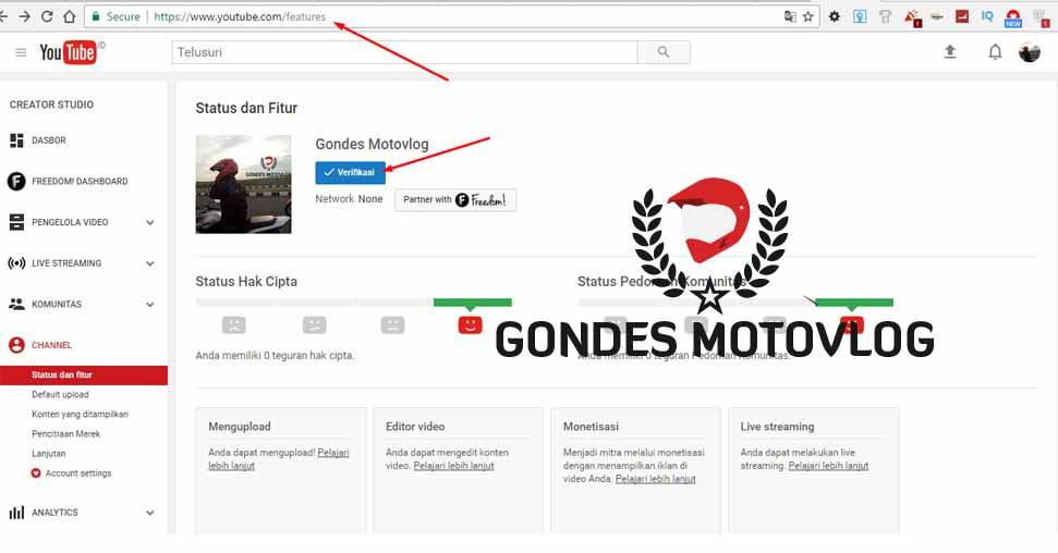 Cara Memverifikasi Akun Channel Youtube Dengan Anda Ponsel