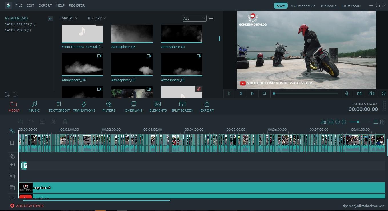 Software Editor Video yang digunakan Jodie Motovlog HD,Agung Hapsah dan Chandra Liow dll