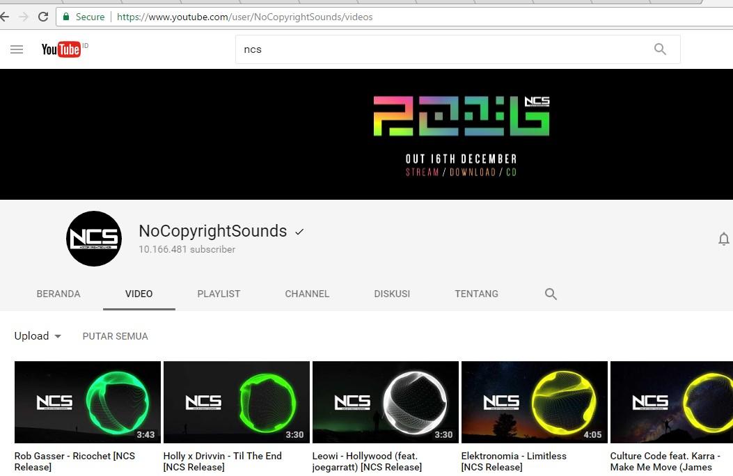Daftar Musik Backsound Gratis Untuk Video di Youtube